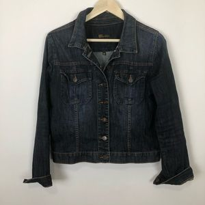 Kut from the cloth cropped fitted Xl denim jacket